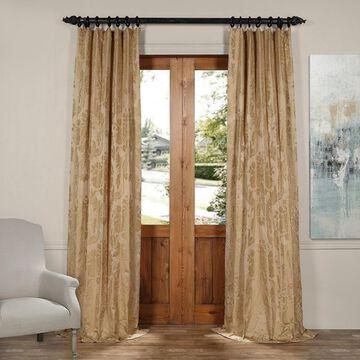Exclusive Fabrics Magdelena Faux Silk Jacquard Curtain