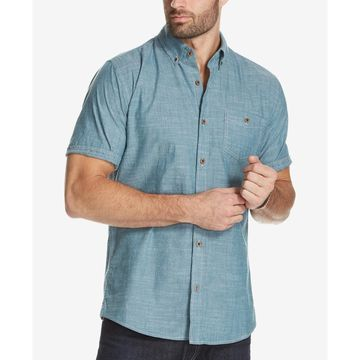 Men's Chambray Shirt with Cuff Detail