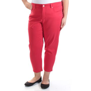 CHARTER CLUB Womens Red Capri Pants Size: 16