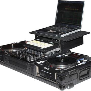 ATA Black Label Coffin for Laptop, Two CD Players, and Mixer