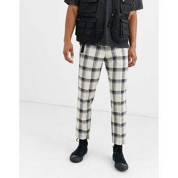 Heart & Dagger slim fit pants in gray grid check
