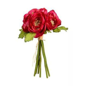 Vickerman Mini Fuchsia Ranunculus Spray - Set Of 3 -