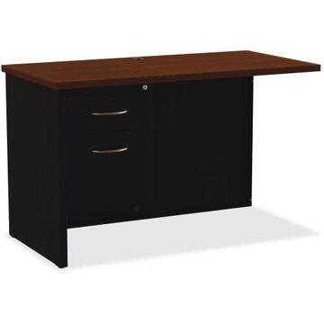 Lorell Walnut Laminate Commercial Steel Desk Series - 2-Drawer