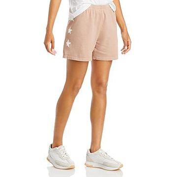 Monrow Star Print Sweat Shorts