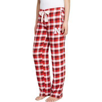 Concepts Sport Women's Nebraska Cornhuskers Scarlet/Black Piedmont Flannel Sleep Pants