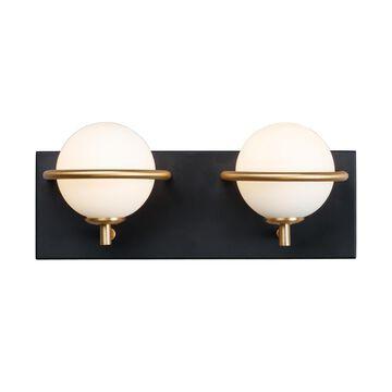 Maxim Lighting Revolve 13 Inch 2 Light LED Bath Vanity Light Revolve - 21602SWBKGLD - Modern Contemporary