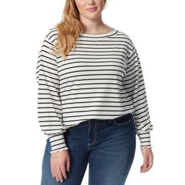 Jessica Simpson Plus Size Veera Smocked-Cuff Top