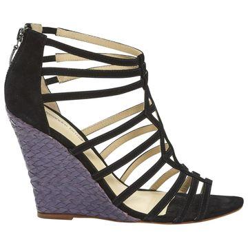 Alexandre Birman Black Suede Sandals