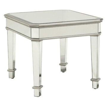 Bowery Hill Square End Table in Silver