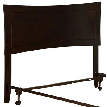 Metro Headboard FL with Metal Bed Frame Espresso