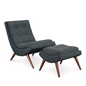 Modway Ramp Upholstered Fabric Lounge Chair Set