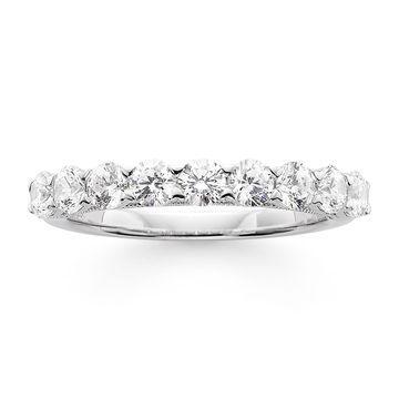 Modern Bride Signature 1 CT. T.W. Certified Diamond 14K White Gold Wedding Band