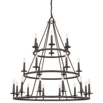 Quoizel Voyager 24-Light Ceiling-Mount Chandelier in Malaga
