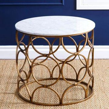Abbyson Living Roland Coffee Table in Gold/Marble