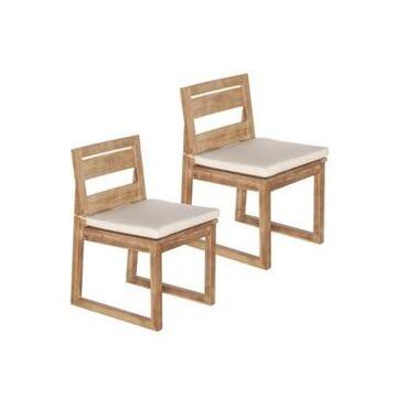 Southern Enterprises Aodhan Acacia Armless Dining Chairs 2 Piece Set