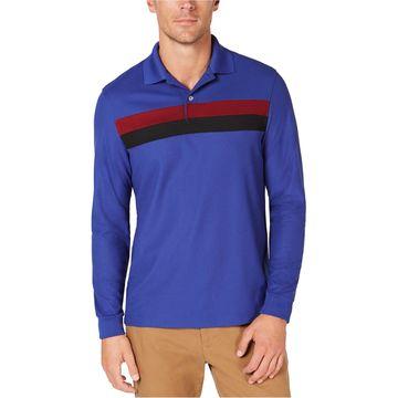 Club Room Mens Striped Rugby Polo Shirt