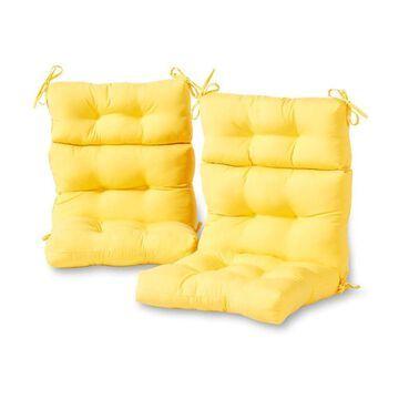 Greendale Home Fashions 2-Piece Sunbeam High Back Patio Chair Cushion Polyester | OC6809S2-SUNBEAM