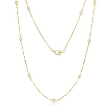 Noray Designs 14k Yellow Gold 1/2ct TDW Diamond 10 Station Necklace