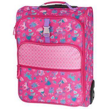 Stephen Joseph Princess Rolling Luggage in Pink
