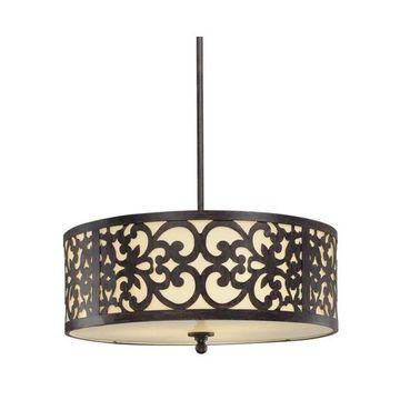 Minka Lavery 1494 3 Light Indoor Drum Pendant - Iron Oxide