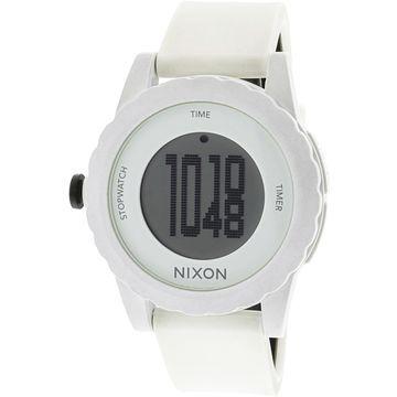 Nixon Men's Genie A326100 White Polyurethane Quartz Sport Watch