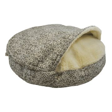Snoozer Orthopedic Indoor Outdoor Cozy Cave Pet Bed in Gondola Gray