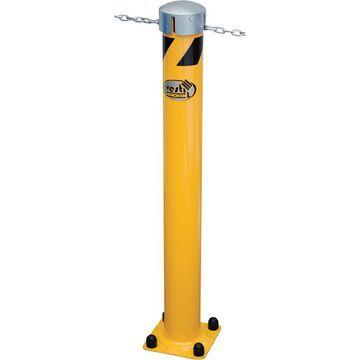 Vestil Steel Pipe Bollard with Chain Slots - 24Inch H, Model BOL-JKS-24-5.5