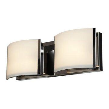 62292-BS-OPL 16 in. Nitro 2 2 Light Brushed Steel Vanity Light Wall Light
