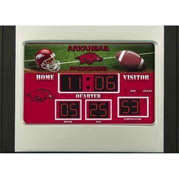 Arkansas Razorbacks 6.5'' x 9'' Scoreboard Desk Clock