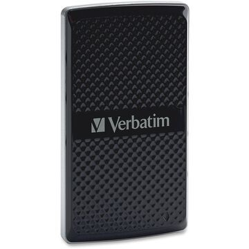 Verbatim 128GB Vx450 External SSD, USB 3.0 with mSATA Interface - Black - USB 3.0 - mini-SATA - 450 MBps Maximum Read Transfer Rate - 295 MBps Maximum Write Transfer Rate - Portable - Black - 1 Pack