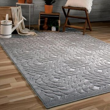 Orian Rugs Boucle Indoor/Outdoor Sandpiper Silverstone Area Rug - 7'9 x 10'10