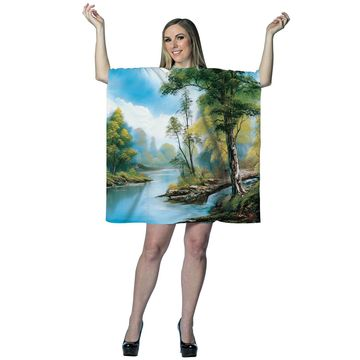 Rasta Imposta Bob Ross Painting Dress Adult Costume-One Size