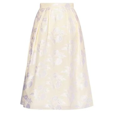 Erdem - Reed A-line Floral Fil-coupe Skirt - Womens - Ivory