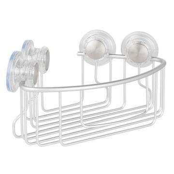 Interdesign Metro Aluminum Turn-N-Lock Corner Basket