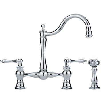 Franke Farm House Chrome 2-Handle High-Arc Kitchen Faucet