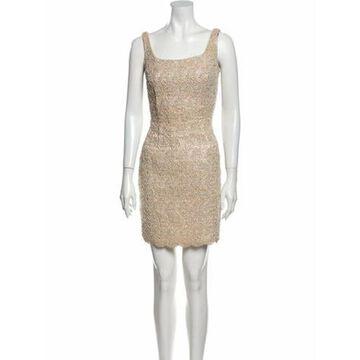 Square Neckline Mini Dress