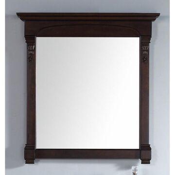 James Martin 147-114-5365 39.5 in. Brookfield Mirror, Burnished Mahogany