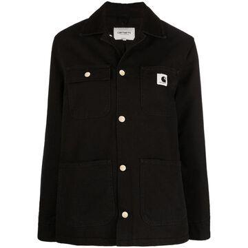 logo organic cotton jacket