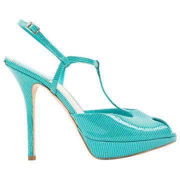 Dior Blue Leather Heels