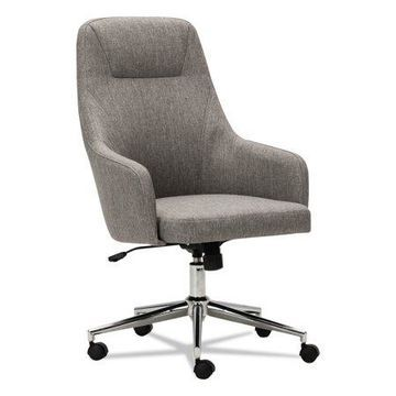 Alera Captain Series High-Back Chair, Gray Tweed