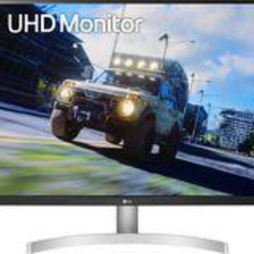 """LG - 32"""" UHD HDR Monitor with FreeSync - White"""