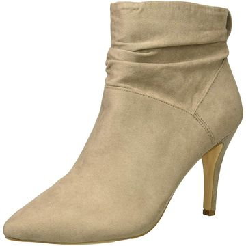 Fergalicious Womens Sheila Fabric Pointed Toe Ankle Fashion Boots