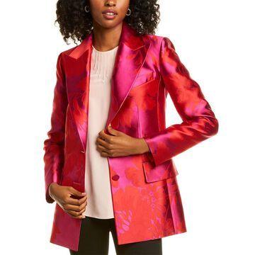 Carolina Herrera Jacquard Silk-Blend Jacket