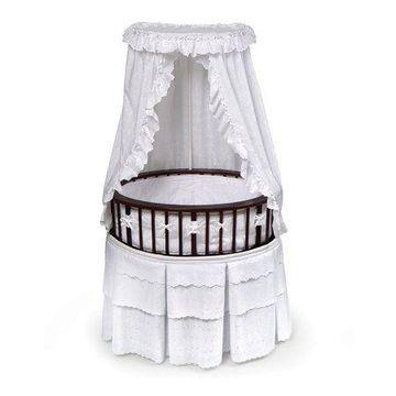 Badger Basket - Oval Elite Baby Bassinet, Cherry