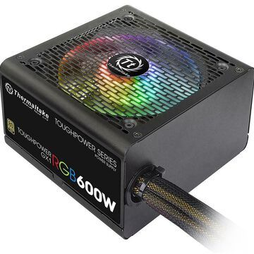 Thermaltake Toughpower GX1 RGB 600W ATX 12V v2.4 and EPS v2.92 80 PLUS GOLD Cert