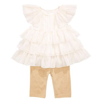 First Impression's Baby Girl's Metallic Tunic Set, Created for Macy's