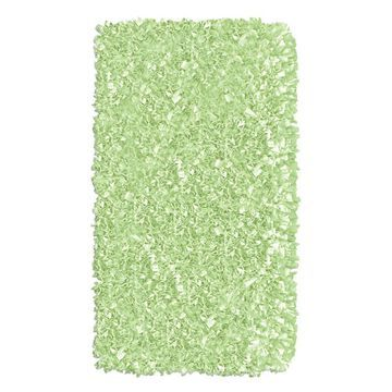 The Rug Market Shaggy Raggy 3 x 5 Sage Solid Handcrafted Area Rug in Green   02208B