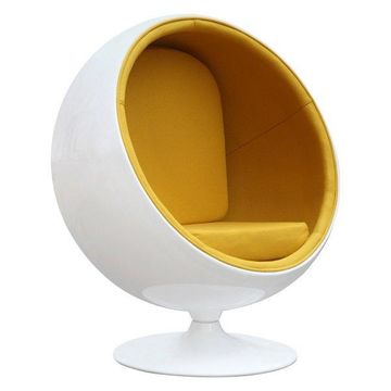 Fine Mod Imports Ball Chair, Yellow