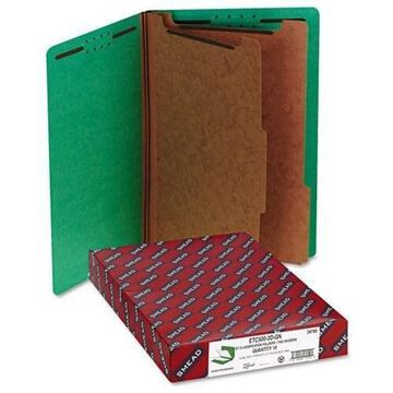 Smead End Tab Colored Pressboard Classification Folders with SafeSHIELD Coated Fastener Technology - Legal - 8 1/2