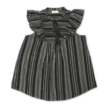 Style & Co Smocked Ruffle-Sleeve Top, Created for Macy's